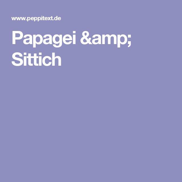 Papagei & Sittich