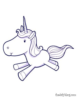 Free Unicorn Coloring Page Printable Picture