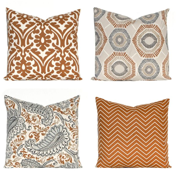 Decorative Pillow Covers - Brown Pillows - Chevron Pillows - Cushion Covers - Sofa Pillows - Brown Cushions - Caramel Brown Pillow Covers by FestiveHomeDecor on Etsy