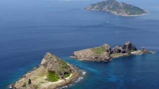 Image copyright                  Reuters                  Image caption                     The islands lie near potential oil and gas reserves   Japan has lodged a protest with the Chinese ambassador in Tokyo, after a Chinese ship sailed close to contested islands in the East China Sea. Japan administers the uninhabited Senkaku islands, which China also claims under the name Diaoyu islands. Russian naval ships were also spotted in the area at the same time