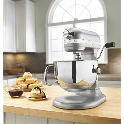 KitchenAid Professional 600 Series 6-Quart Bowl-Lift Stand Mixer - KP26M1X, Nickel Pearl