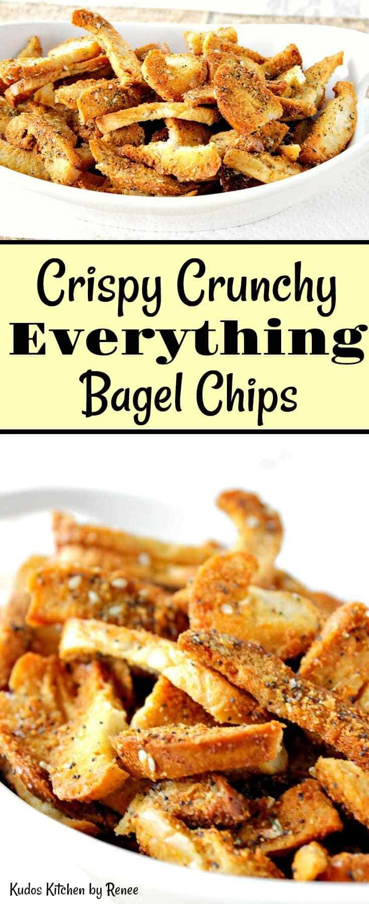 Beware! These homemade Crispy Crunchy Everything Bagel Chips are so addicting that you can't step away. Please proceed with the utmost caution! - Kudos Kitchen by Renee