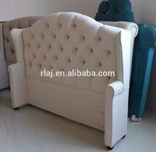 Tela de lujo cama con alta cabecero, tela del estilo francés cama muebles de dormitorio(China (Mainland))