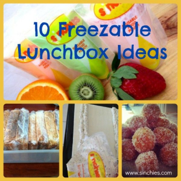 The Sinchies Top 10 Freezable Lunch Box Ideas
