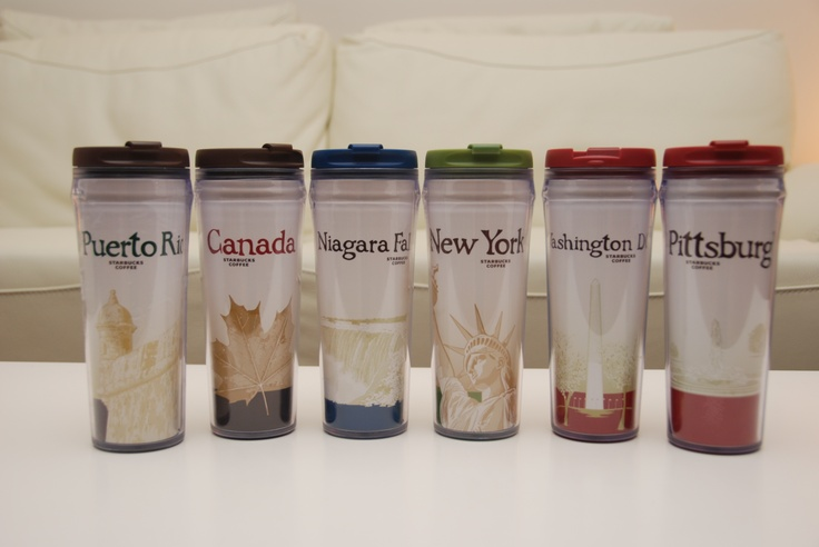 I'm obsessed with the Starbucks city tumblers. I try to pick one up in every new city!