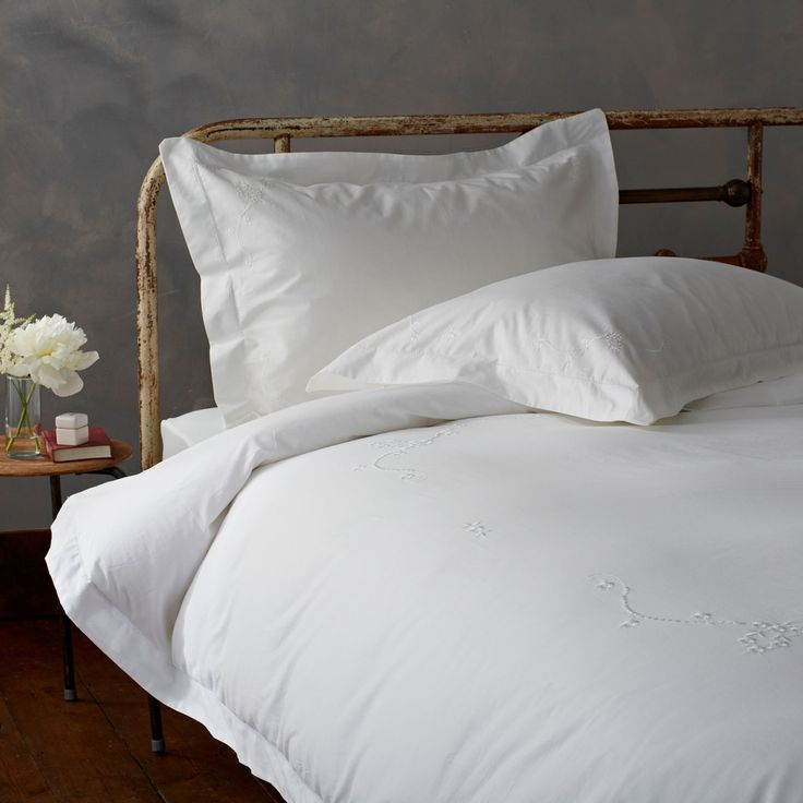 Our classic bed linen with a romantic twist on 200 thread count pure cotton. For a little vintage-style romance, our Embroidered bed linen brings a designer look to your scheme.