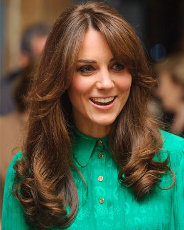 La frangia anni 70 di Kate Middleton