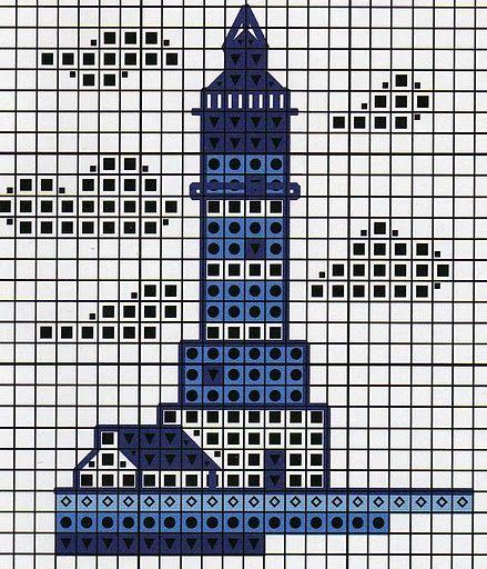 Světnička u Tiny: Předloha / Pattern - use this pattern to make a Lighthouse Quilt
