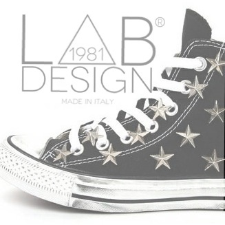 Converse studded stars customized handmade in italy by labdesign.