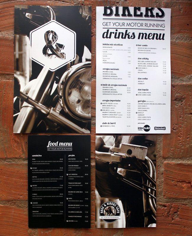 Bros & Bikers Cafe identity design / Marjorye of São Paulo-based Estúdio Quadrilátero