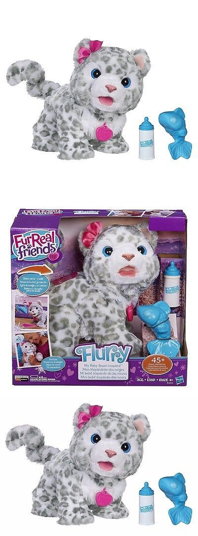 FurReal Friends 38288: Soft Fur Snow Leopard Plush Pet Kitty Doll Baby Toy Play Sound Electronic Flurry -> BUY IT NOW ONLY: $67.68 on eBay!