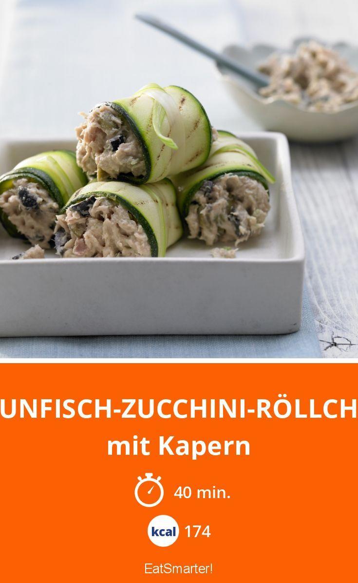 Thunfisch-Zucchini-Röllchen - mit Kapern - smarter - Kalorien: 174 Kcal - Zeit: 40 Min. | eatsmarter.de
