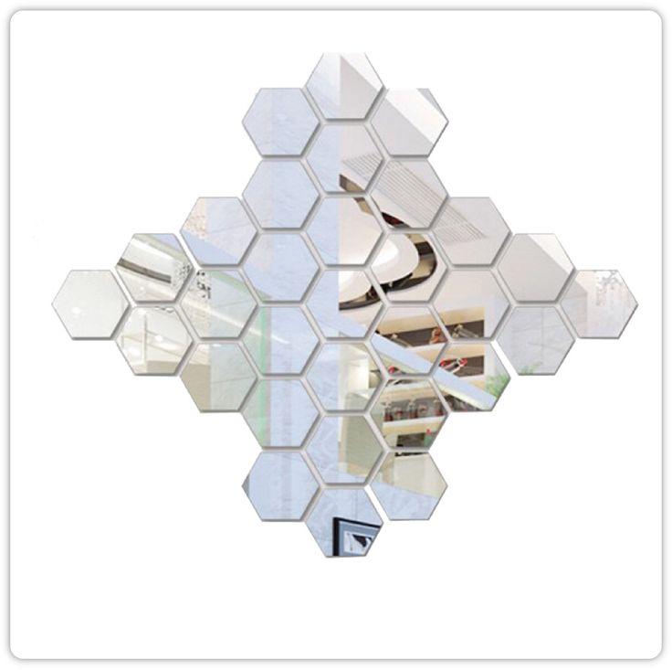 Die besten 25+ Spiegelfliesen Ideen auf Pinterest Kleine - deko ideen hexagon wabenmuster modern