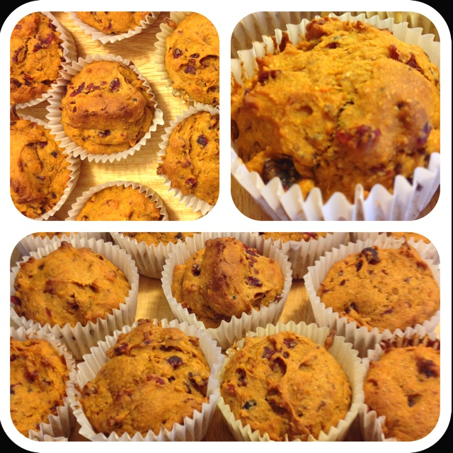 HEALTHY TODDLER MUFFINS (super tasty!) Ingredients: - 1 cup cooked sweet potatoes or yams, - 2 large eggs, - 1/4 cup sugar, - 1/4 cup apple sauce, - 1/4 cup water, - 1 teaspoon finely grated orange zest, or to taste, - Squeezed orange juice to taste, - 1 tablespoon vanilla extract, - 2 cups wheat flour, - 1 1/2 teaspoons kosher salt (or 3/4 teaspoon table salt), - 2 teaspoons baking powder, - 1/4 teaspoon baking soda, - 1 cup dried cranberries, - 1/4 cup oatmeal/enriched infant oatmeal, - 1/4...