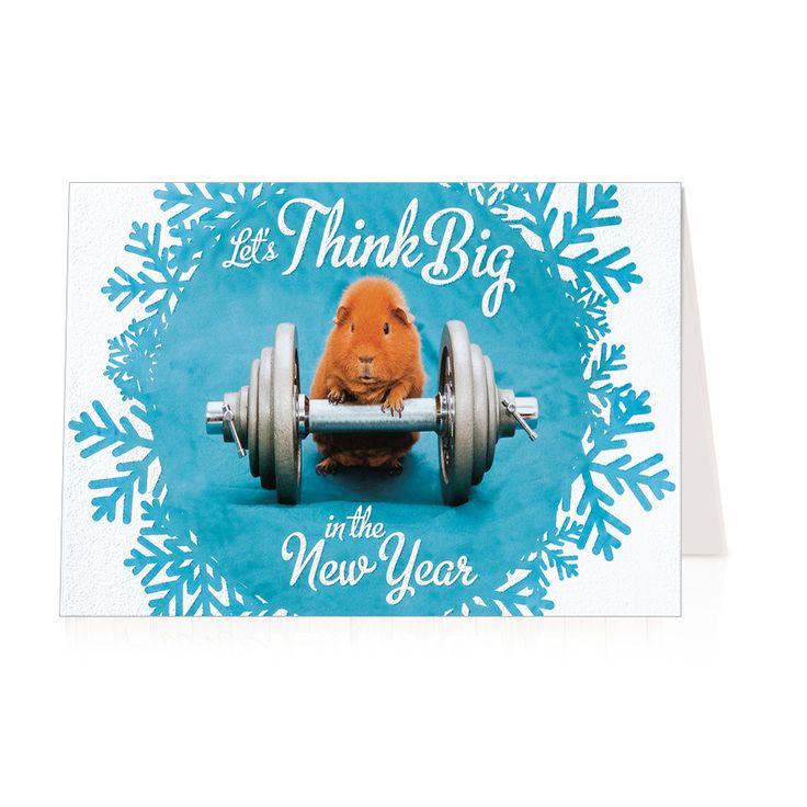 Lustige Neujahrskarten mit glitzerndem Effektlack online bestellen!