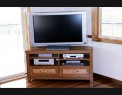 Recycled hardwood corner entertainment  Buywood Furniture are based in Samford and make made to measure TV units amongst other things.  I pictured white but this timber is beautiful and you can match with your existing lovely pieces.