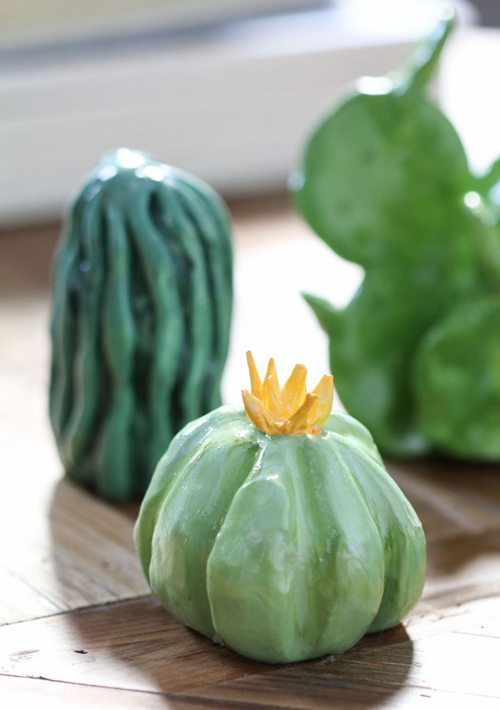DIY Clay Cactus Garden | Inspired by Charm