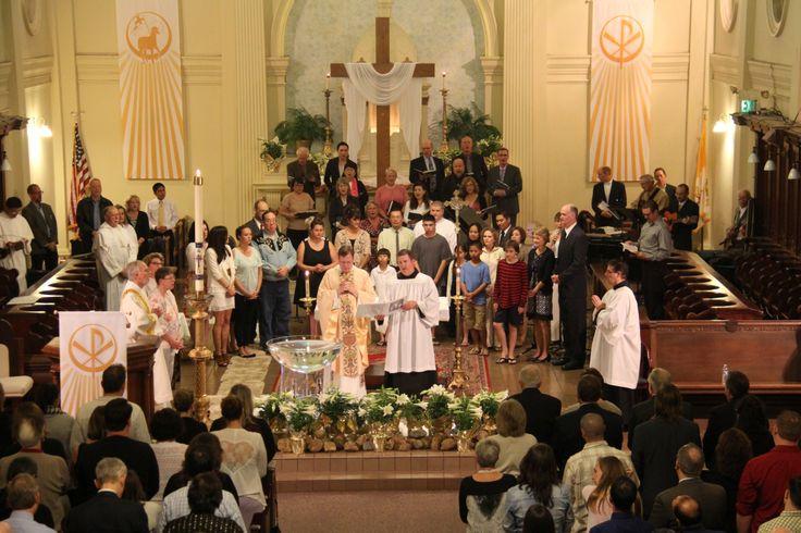 Easter Vigil Mass at St. Dominic's Benicia