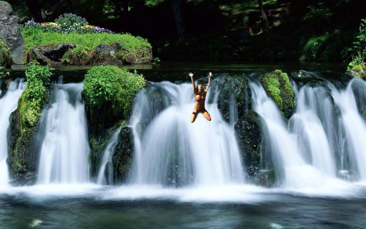 Jump off a waterfall - DONE!