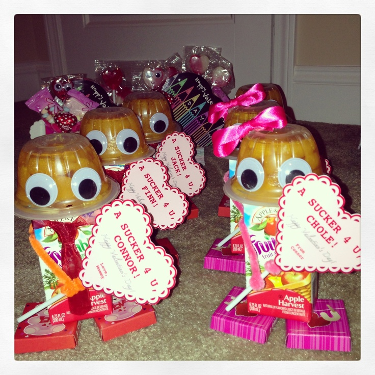 Connoru0027s 1st Vday Party!! Juice Box Robots!! Kids ValentinesValentine PartyValentine  TreatsBaby CraftsClassroom ...
