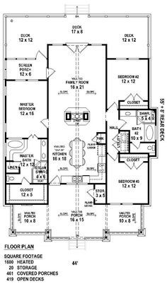 *****This could be the one!!! Add a garage, convert one bedroom to large laundry/mud room with basement stairs? Plan No.490061 House Plans by WestHomePlanners.com