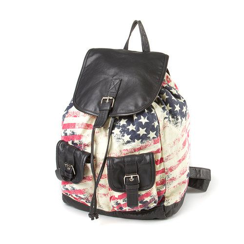 It doesn't get more American than a flag bag! #4thofJuly