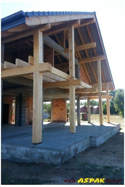 Widok tarasu i balkonu #taras #projekt #dom