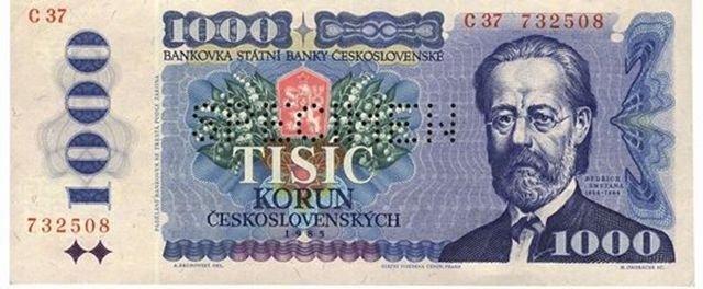 Líc bankovky, rok 1985-SMETANA