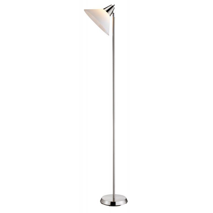 Adesso Swivel Floor Lamp Steel 1 Silver Floor Lamp Floor Lamp White Floor Lamp