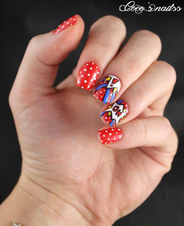 Comics nail art #cocosnailss