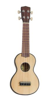 Ukulele Soprano Real Wood Uke with Geared Tuners Natural Finish - 2ND