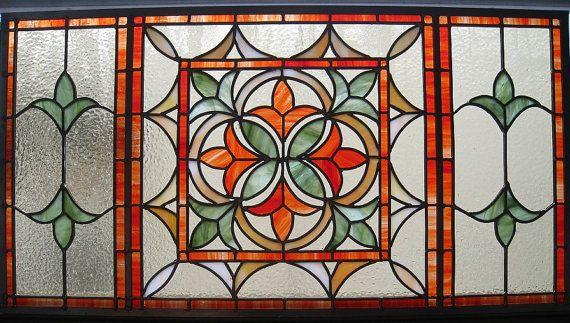 Stained Glass Fleur de Lis Panel by BlueFishStudios on Etsy, $725.00