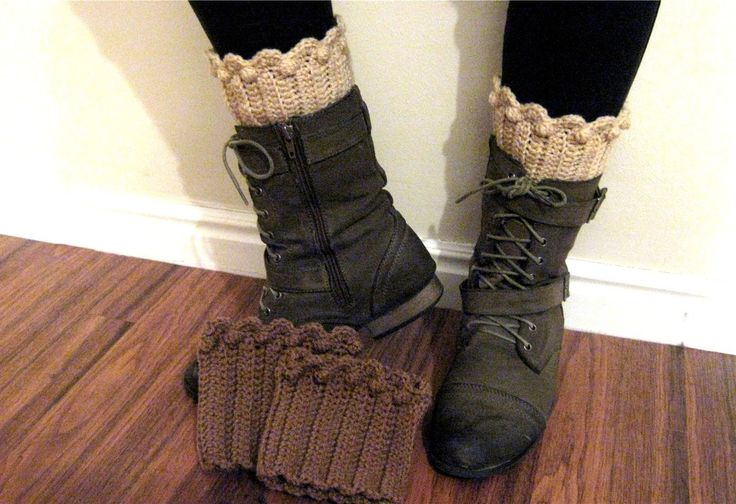 "This video shows how to crochet a partial sock to show above the top of your boots. The sock topper or cuff is 5 1/2"" long or tall and you can crochet as man..."
