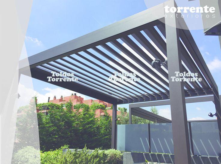Pérgolas aluminio bioclimáticas pergalum AL10 orientables retráctiles