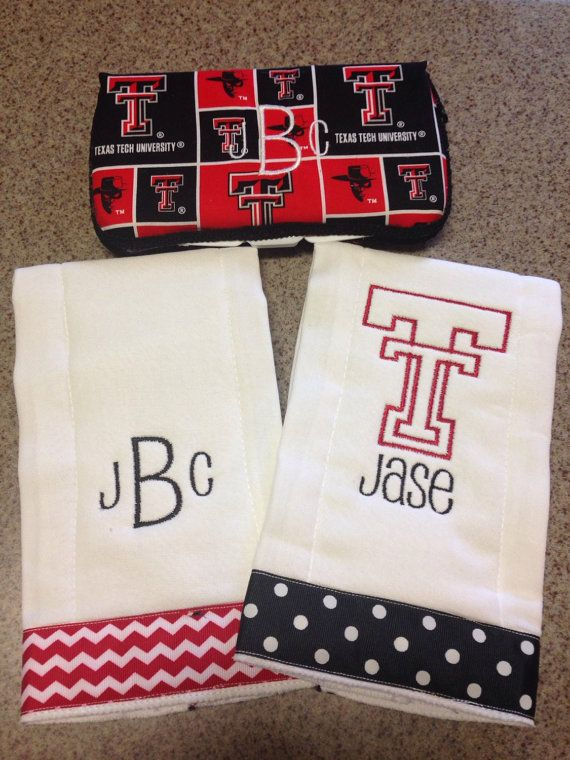 Texas Tech Baby Set by TheBurpClothShop on Etsy