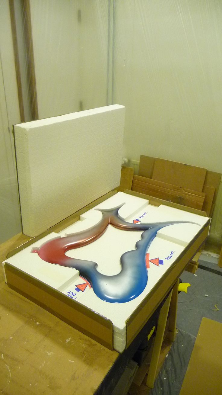 Solid Foam boxing of the art work: The Dali Mirror. Almost ready for shipping overseas...