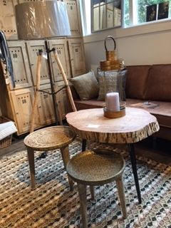 Set van 3 ronde salontafels - MaisonDuPont