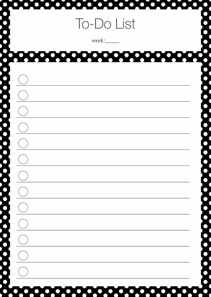 Um stets den Überblick zu behalten ist eine  To-Do List das A und O jedes Partyplaners!