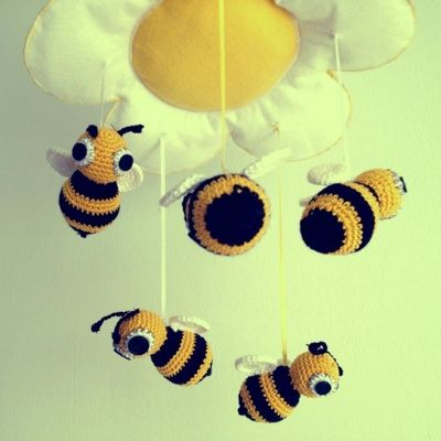 Patrón Móvil para bebé abejas