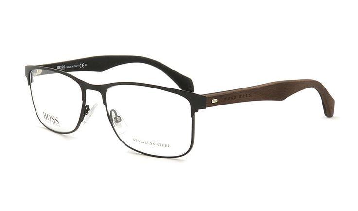 Metallrandbrille von Hugo Boss 780 RBR 54 Schwarz Matt. Jetzt bei Brille Kaulard.