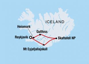 Trip Map - Sample Itin for Iceland