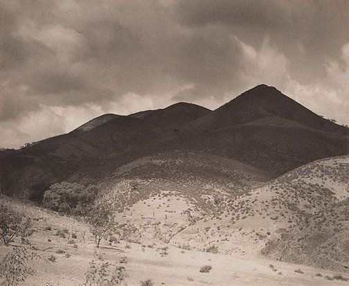 1935, the shadowed hills: the Flinders Ranges by Harold Cazneaux