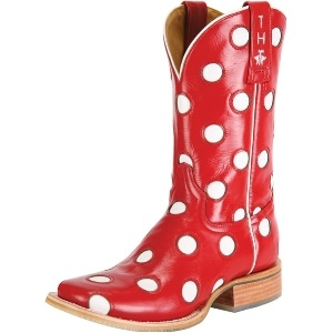 Tin Haul Red & White Dotty Cowgirl Boots $350