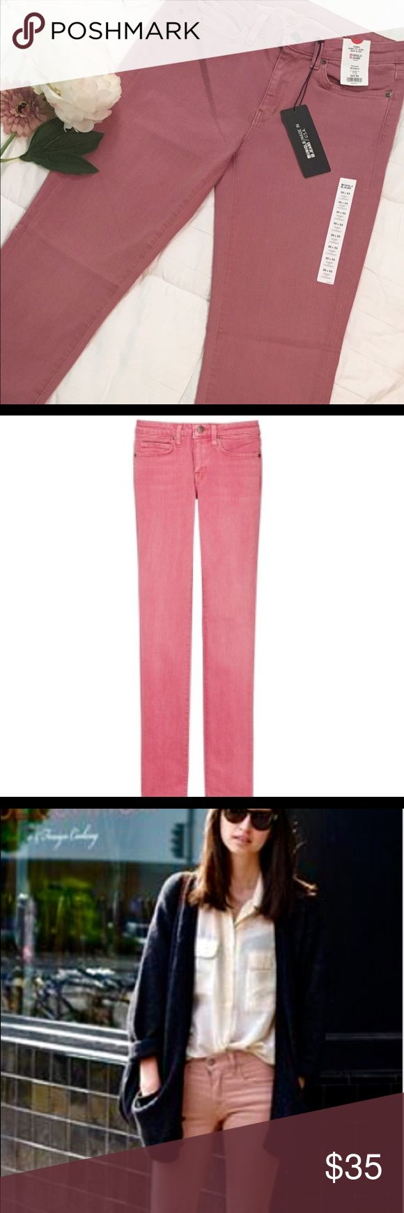 """Charity ItemUSA madeSkinny Fit Blush Jeans ✨✨NWT! Stretchy Skinny Fit Jeans in a Blush Shade of Pink. ✨✨ All Proceeds from the Sale of this item will Benefit """"Move Beyond the Grid"""", a non-profit to provide Sustainable Living Solutions for Mississippi's Public.  30 waist x 33 length. Uniqlo Jeans Skinny"""