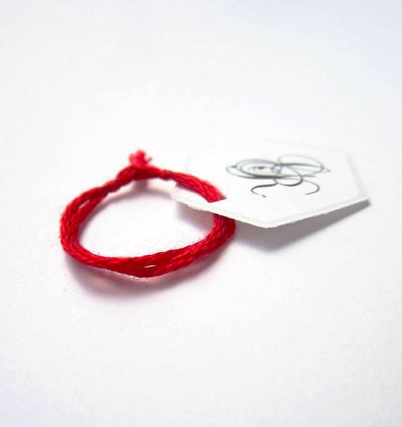 red string ring red string of fate couples gift friendship