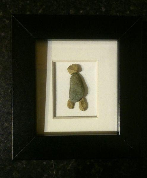 """""""Walking Man"""" Pebble Art"""