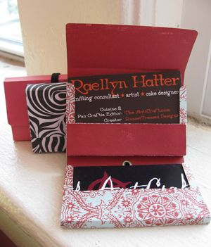 Want to re-use those crazy gum wrapper/boxes? Voila! Business card holders!
