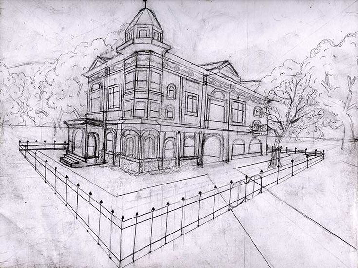 Perspective Point 2 Haunted Drawings House