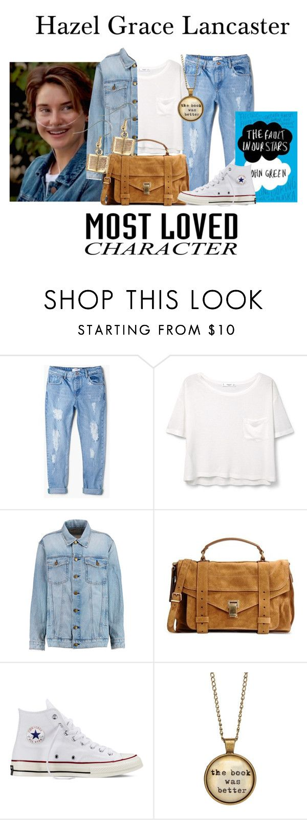 """Hazel Grace Lancaster / 3-7-16"" by megan-vanwinkle ❤ liked on Polyvore featuring MANGO, Current/Elliott, Proenza Schouler, Converse, thefaultinourstars and polyvoreeditorial"