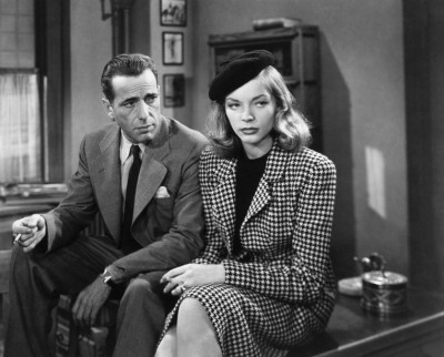 The Big Sleep (1946) Lauren Bacall and Humphrey Bogart.http://classiccinemaimages.com/humphrey-bogart/heroes-and-villains-humphrey-bogart-as-philip-marlowe-in-the-big-sleep/